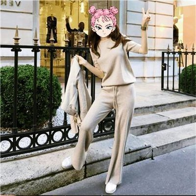 原價$11500全新專櫃購買【Moschino】浅駝色超舒適毛巾布緞帶長褲