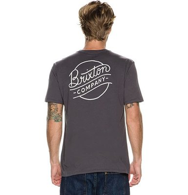 全新 現貨XL Brixton Sunder 短tee 騎士 復古 滑板 衝浪 街頭 洗舊黑