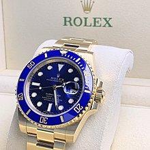勞力士 Rolex 116618 LB Submariner藍面藍圈 黃金 (全新 歐洲水貨)