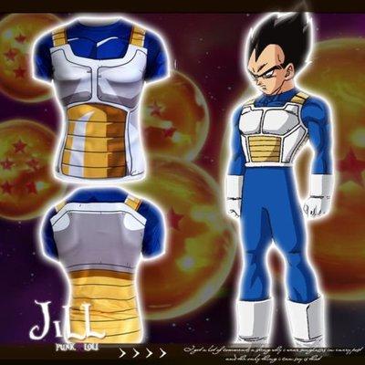 Oo吉兒oO日系動漫二次元cosplay 王子達爾七龍珠盔甲造型排汗運動機能上衣 dragon ball【J1C134】