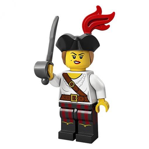 現貨【LEGO 樂高】積木/ Minifigures 人偶包系列: 20代 71027 | #5 海盜女孩+劍