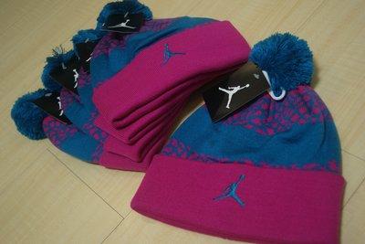 全新正品現貨NIKE AIR Jordan 爆裂紋象紋毛線帽 Jumpman 毛球帽雪球帽針織毛帽 619366-670