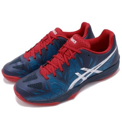 =麥可排球= ASICS亞瑟士 GEL-FASTBALL 3 THH546-5001 排羽球鞋 室內運動鞋 男女鞋 藍紅