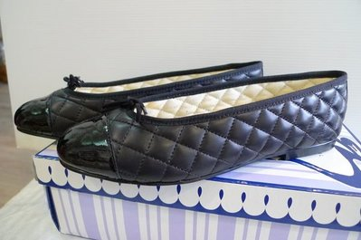 French Sole Simple Classic Quilted Ballet Flats 38號 現貨 (建議適合23.5-24公分) Made In France