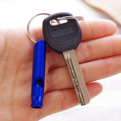 口哨 鑰匙扣 裁判 旅遊 兒童 遊戲迷你 便攜 逃生 多功能 戶外野營求生口哨鑰匙扣【J100】☜shop go☞
