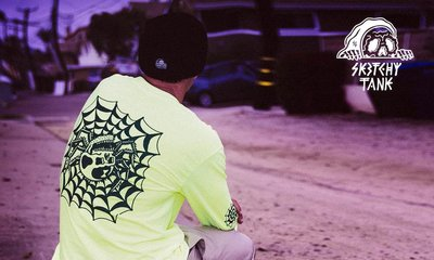 GOODFORIT / 美國Sketchy Tank Web Long Sleeve T-Shirt惡趣蜘蛛形象長袖上衣
