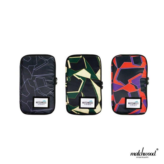【Matchwood直營】Matchwood Universal 護照包 護照夾長夾機票證件 黑幾何迷彩 超取免運優惠