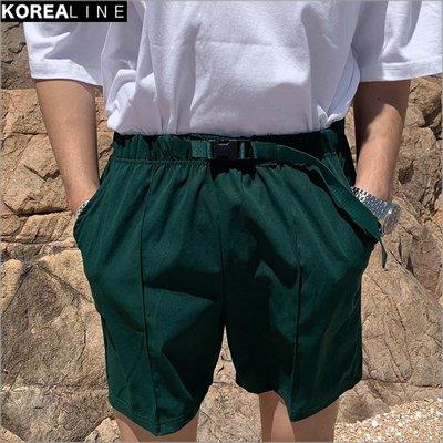 搖滾星球韓國代購 扣帶設計休閒短褲 / 4色 AC9198