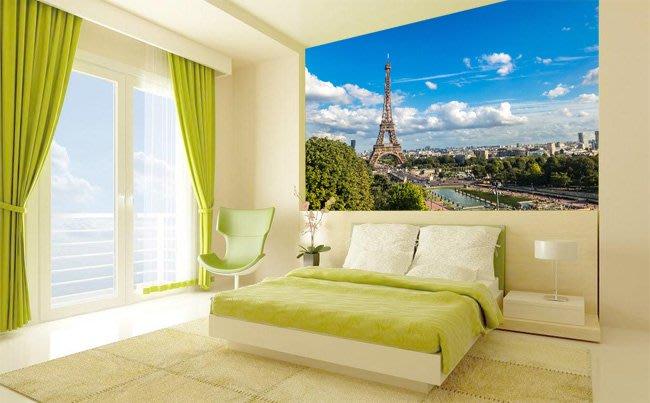 客製化壁貼 店面保障 編號F-280 法國鐵塔 壁紙 牆貼 牆紙 壁畫 星瑞 shing ruei
