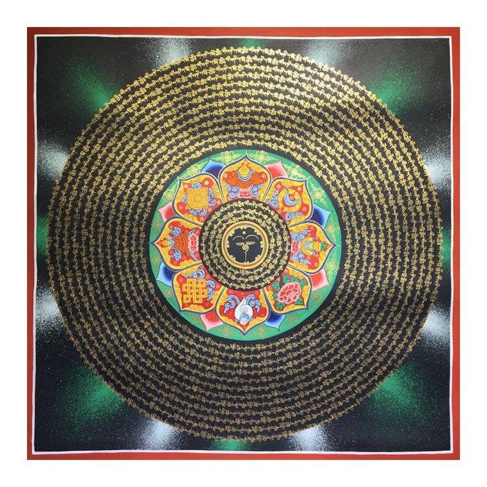 正品潮流唐卡純手繪唐卡 吉祥八寶六字真言 善悟集尼泊爾唐卡藝術畫院 TM34
