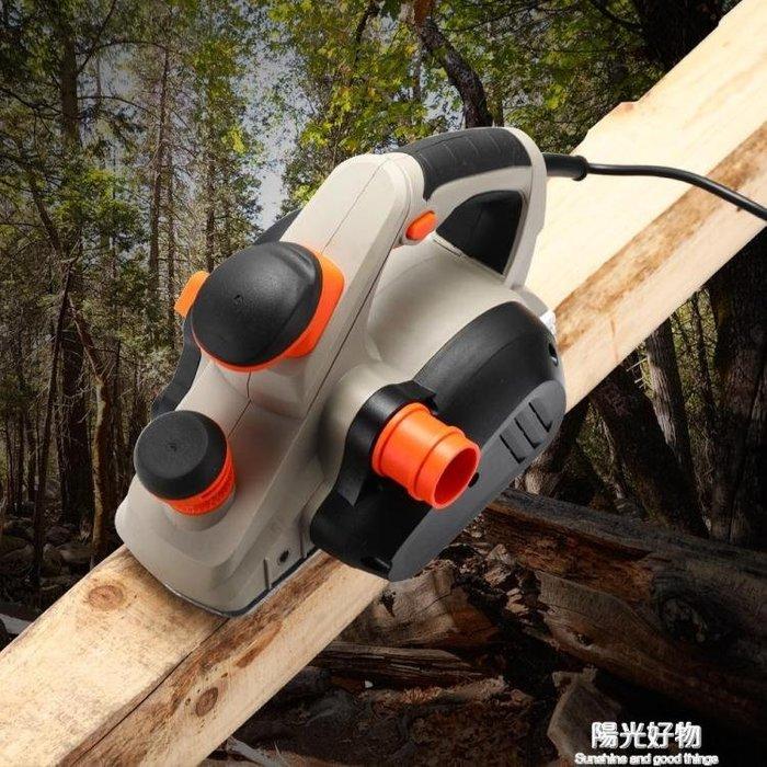 電刨家用小型多功能手提倒裝臺式木工刨木工工具電動刨子壓刨刀機 220V NMS