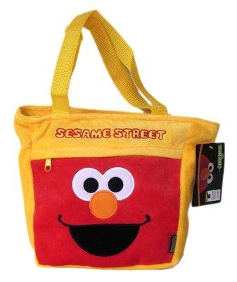 【卡漫迷】 Elmo 絨毛 手提袋 出清 庫一 ㊣版 有瑕疵 背面髒污 芝麻街 才藝袋 提包 Sesame Street