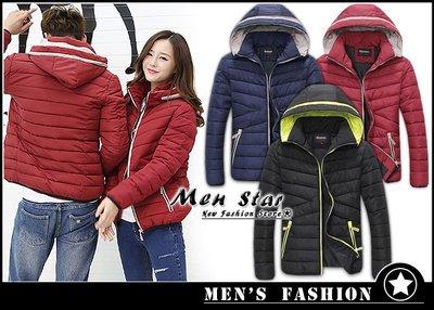 【Men Star】免運費 韓版防潑水外套 羽絨外套 羽絨衣 輕羽絨 黑色外套 紅色外套 藍色外套 媲美 gap lee