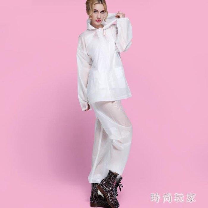 成人戶外騎行雨衣雨褲女套裝時尚環保摩托車電動車雨披男女 ZB313