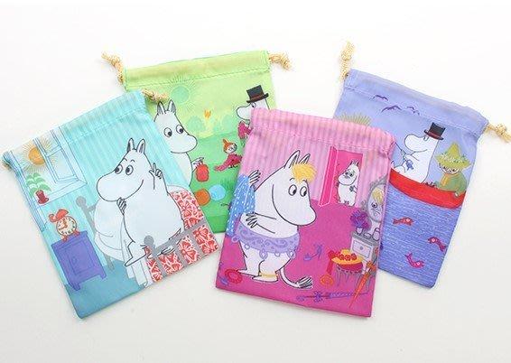 [瑞絲小舖]~日單MOOMIN姆明可愛卡通漫畫風小號分類整理收納袋(四款可選) 抽繩束口袋 束口袋 抽繩袋