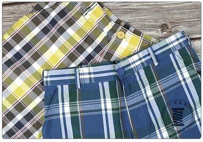 ✿小布物曲✿ 手作 跳色格紋休閒短褲 100%純棉布 日本進口布料質感優 共2色 單一尺寸-32腰 舒適 透氣