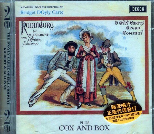 【塵封音樂盒】Bill Gilbert | David Godfrey - RUDDIGORE: COX & BOX  2CD  (全新未拆封)