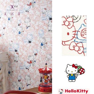 【夏法羅 窗藝】日本進口 日本人氣卡通 Kitty貓 凱蒂貓 壁紙 BB_229552