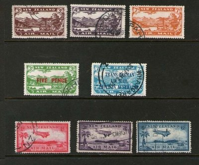【雲品】紐西蘭New Zealand 1931-35 completed Airmail sets FU #66610