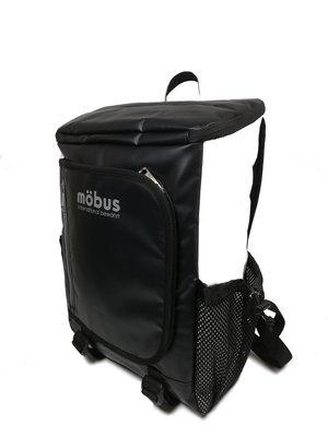 日本 Mobus 黑拼白色防潑水尼龍布 前揭型 30L 背囊 ($350 包順豐)
