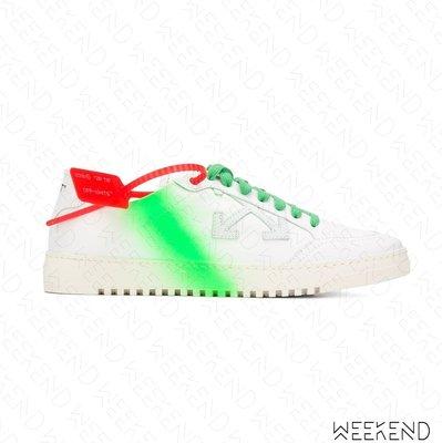 【WEEKEND】 OFF WHITE Low 2.0 Arrows 噴漆 箭頭 休閒鞋 白+綠色 20春夏