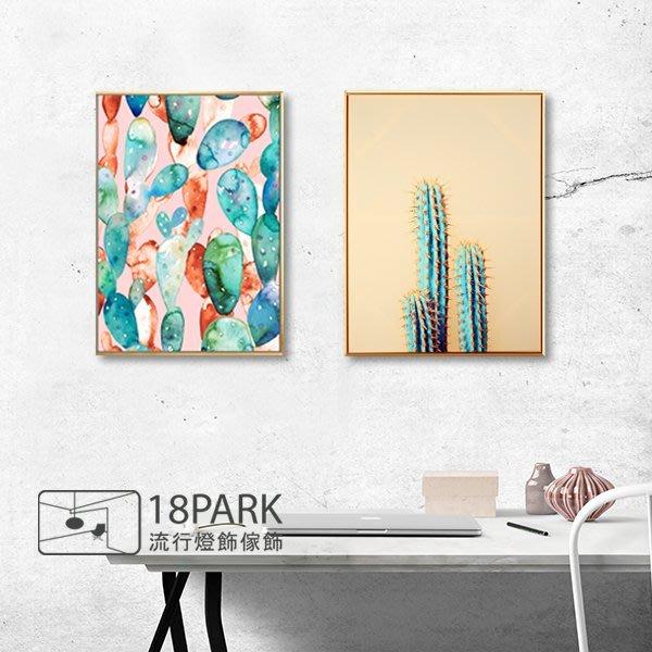 【18Park 】精緻細膩  cactus [ 畫說-仙人掌印影50*70cm ]