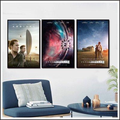 星際效應 Interstellar 異星入境 Arrival 電影海報 藝術微噴 掛畫 嵌框畫 @Movie PoP ~