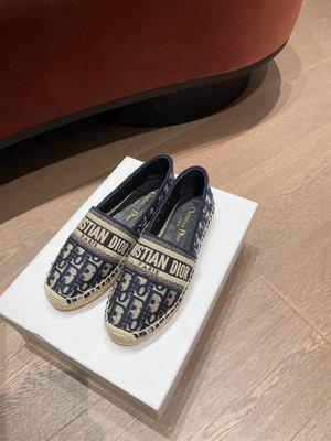 Dior 2020老花刺繡漁夫鞋 三色 size:35-40