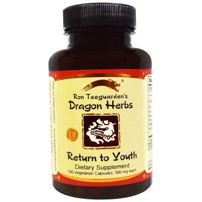 北美旗艦代購~Dragon Herbs 六種草藥帝王配方 修復青春   500MG 100粒