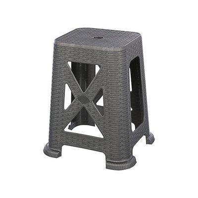 315百貨~聯府 KGB7901 百威藤藝椅 45cm(灰色)    /  塑膠椅 戶外休閒椅 輕便椅