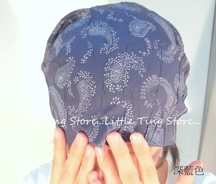 Little Ting Store:韓國製棉麻系列變形蟲頭巾頭套海盜帽自行車或餐飲業 廚師帽月子帽化療帽包頭帽