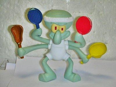 A.(企業寶寶玩偶娃娃)少見2012年麥當勞發行海綿寶寶-章魚哥公仔!!--值得收藏!/黑箱65/-P