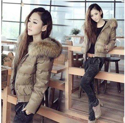 羽絨服女短款新款韓版修身顯瘦大毛領外套·全館免運3C旗艦店