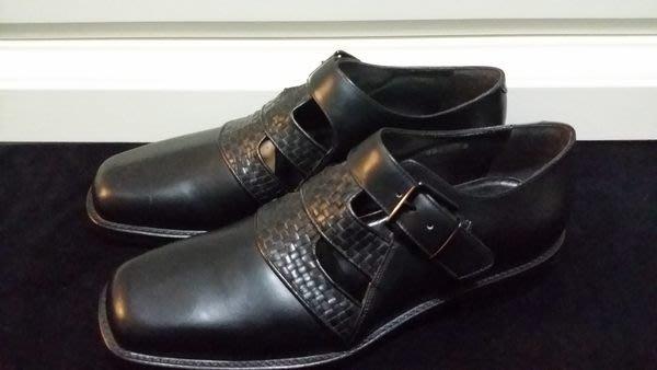 意大利經典木底手工皮鞋品牌 Marco DeLLi  HAND MADE IN ITALY BV感牛皮編織