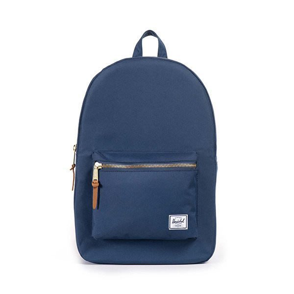 Herschel Supply Co. Settlement Backpack 金拉鏈 後背包 藍色 大款21L