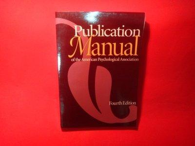 【愛悅二手書坊 08-12】Publication Manual of the American-