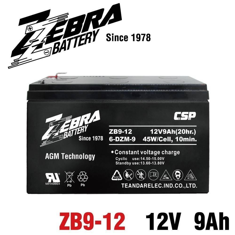 【電池達人】一組兩顆出貨 ZB9-12 12V9Ah ZEBRA 斑馬電池 REW45-12 HR9-12 NP7-12