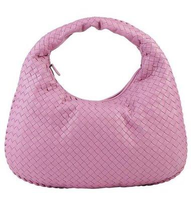 EZ Fashion 18SS義大利進口真品Bottega Veneta真品Veneta 手提側背包-桃紅