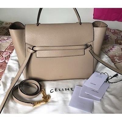 Celine Belt Bag 鯰魚包 Micro Belt Bag 小款24CM 杏色 奶茶色