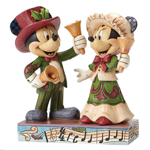 🗽Dona美國代購🗽預購 Enesco 迪士尼米奇米妮復古手搖鈴聖誕節 塑像 公仔擺飾裝飾