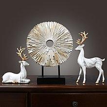 〖洋碼頭〗美式家居客廳電視櫃裝飾品擺件創意歐式玄關麋鹿擺設喬遷新居禮物 hbs358
