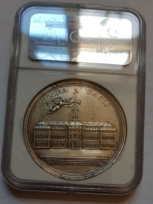 美國銀章 1763 USA Treaty of Hubertusburg Peace Medal.