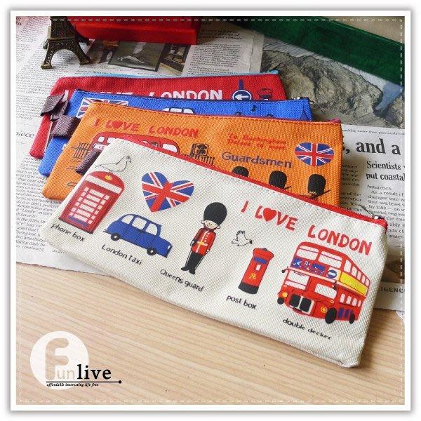 【贈品禮品】B2485 英倫風牛津筆袋/倫敦風收納袋/英國皇家士兵筆袋/化妝包/萬用袋/鉛筆盒/眼鏡袋/錢包