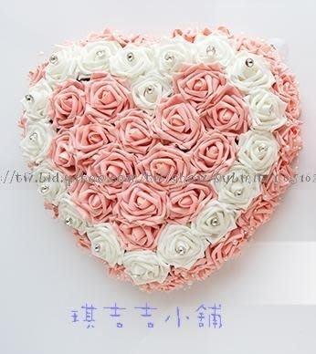 *︵0324@Nienchiehtsai 琪吉吉小舖︵*車頭彩出租 粉色心型紅玫瑰+車門把花一組