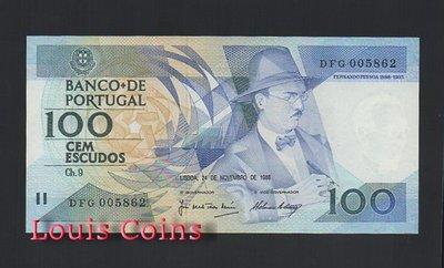 【Louis Coins】B235-PORTUGAL--1988葡萄牙紙幣100 Escudos