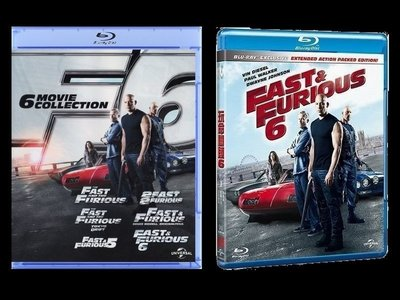 【BD藍光】玩命關頭1~6集套裝+第6集Fast and the Furious(中文字幕,DTS-HD)