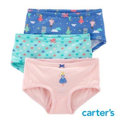Carter s 卡特 美國童裝 女童內褲 小內褲 棉質內褲 // 公主系列* 3件組