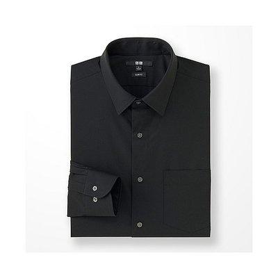 日本 UNIQLO 長袖 素面 商務襯衫 SLIM FIT EASY CARE加工 襯衫  SIZE:M號