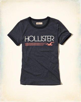 【Hollister Co】Logo Graphic Ringer T-Shirt 短T--現貨S