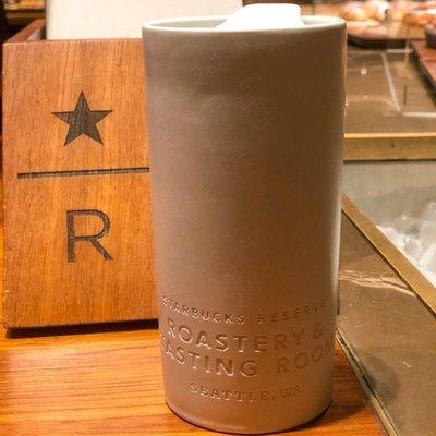 西雅圖帶回 星巴克陶瓷roasters&tasting room隨行杯 10oz